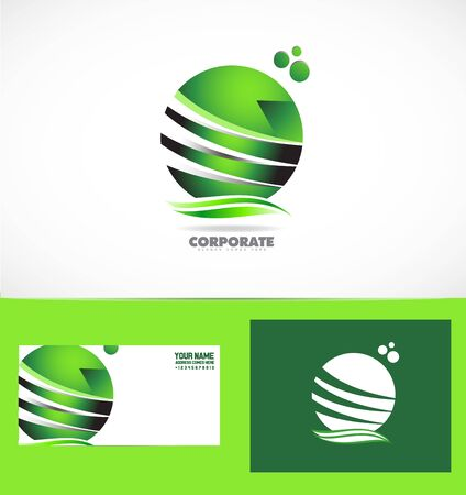 company logo icon element template sphere green corporate business communication media