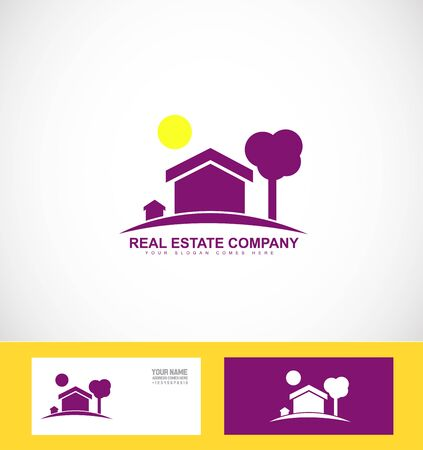 realty: company logo icon element template real estate house home realty Illustration