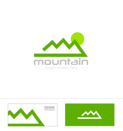 climbing gear: icon element template mountain shape sport climbing outdoor gear tourism agency Illustration