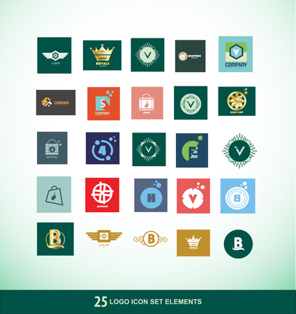 king s: company logo icon element template letter number shopping king crown luxury items gold