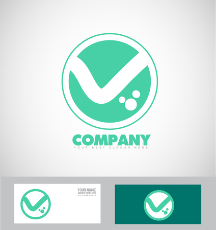 simple logo: company logo icon element template letter V alphabet simple flat drawing circle sports Illustration