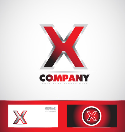 x games: company logo icon element template letter x alphabet games it media advertising set