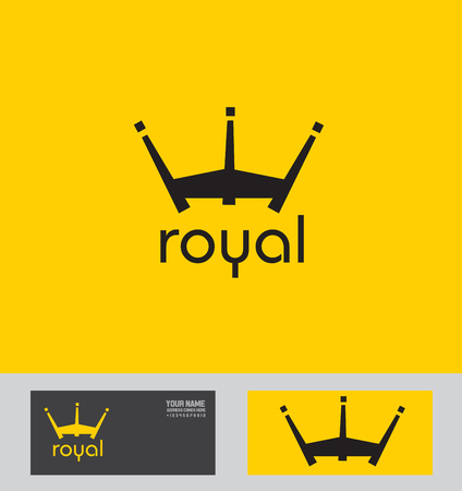 royalty: icon element template royal royalty crown king abstract Illustration