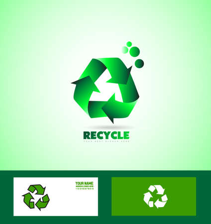 green environment: icon element template recycle recycling environment green conservation earth clean