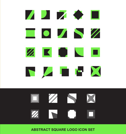 mobile apps: company logo icon element template square abstract for mobile games and apps advertising media communication Illustration