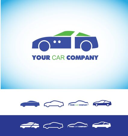 repair shop: company icon element template car automobile auto shape blue green repair shop mechanic