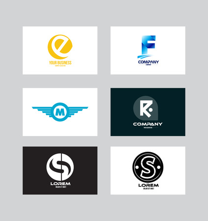 Vector company logo icon element template alphabet letter set