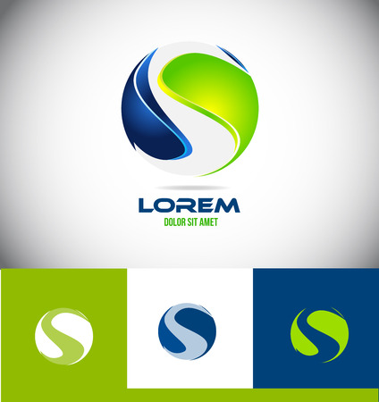 Vector company logo icon element template sphere alphabet letter s corporate business