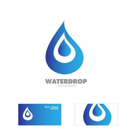 waterdrop: Vector company logo icon element template waterdrop logo Illustration