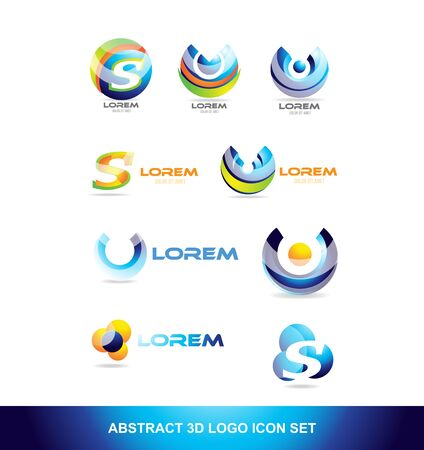 Vector company logo icon element template abstract sphere alphabet letter circle
