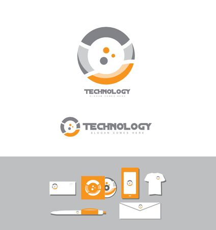 technolgy: Corporate identity vector company logo icon element template technology business