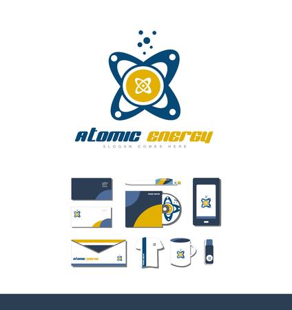 atomic symbol: icon element template atom symbol orbit energy atomic chemistry nuclear science