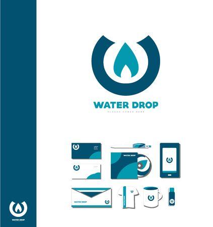 waterdrop: company icon element template water drop waterdrop aqua