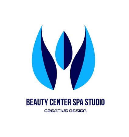 beauty center: Vector company logo icon element template spa tulip flower spa beauty center studio relaxation Illustration