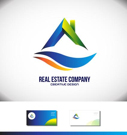 realtor: Vector company logo icon element template real estate house roof realtor Illustration