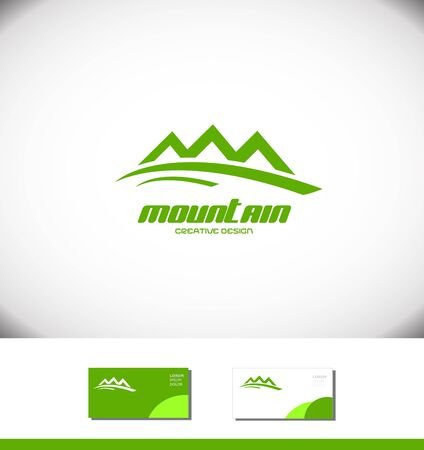 green mountain: Vector company logo icon element template green mountain tourist tourism holiday Illustration