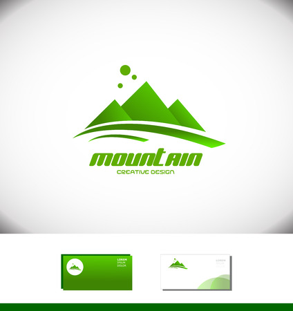 moutain: Vector company logo icon element template moutain peak top tourism tourist agency top