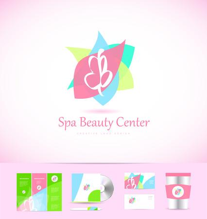 Spa Lotus Blume Schönheit Shop Kosmetik Ikone Design