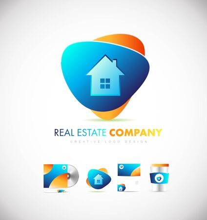 house logo: Real estate house home vector logo icon sign design template