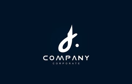 Alphabet small letter d white blue vector logo icon sign design template 일러스트