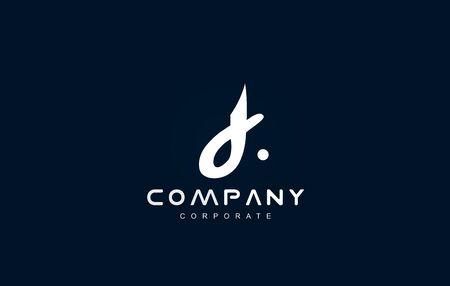 Alphabet small letter d white blue vector logo icon sign design template Illustration