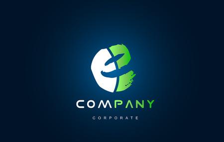 Alphabet letter E vector logo icon sign design template Illustration