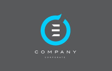 Lettre E cercle bleu plat créatif logo vecteur icône signe modèle de design moderne alphabet Banque d'images - 71426245