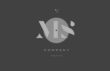 MS grey modern stylish alphabet dot dots eps company letter logo design vector icon template