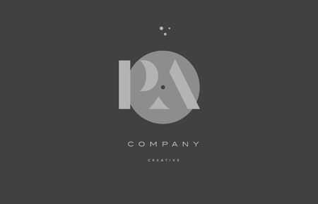 Pa p a  grey modern stylish alphabet dot dots  company letter logo design vector icon template