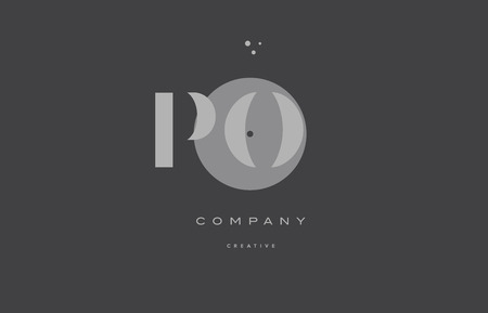 po: Po p o  grey modern stylish alphabet dot dots company letter logo design vector icon template