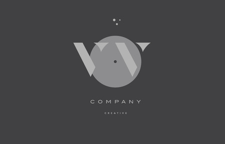 Vv V Grey Modern Stylish Alphabet Dot Dots Eps Company Letter