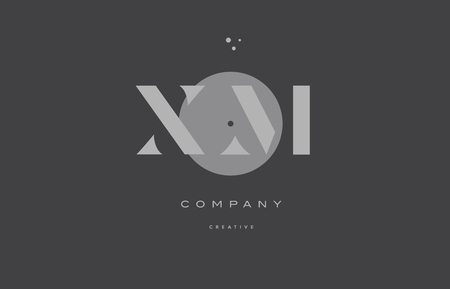 xm: xm x m  grey modern stylish alphabet dot dots eps company letter logo design vector icon template