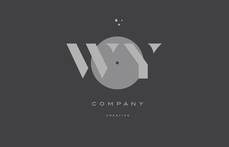와이 와이 회색 현대 세련된 알파벳 도트 회사 로고 회사 로고 디자인 벡터 아이콘 템플릿 일러스트