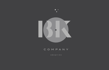 bk b k  grey modern stylish alphabet dot dots eps company letter logo design vector icon template Illustration