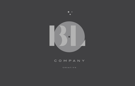 bl: bl b l  grey modern stylish alphabet dot dots eps company letter logo design vector icon template