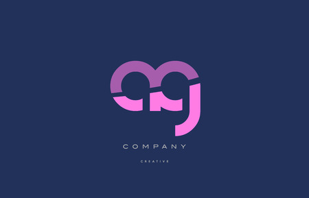 ag: ag a g  pink blue pastel modern abstract alphabet company logo design vector icon template