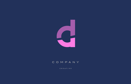 cl c l pink blue pastel modern abstract alphabet company logo design vector icon template