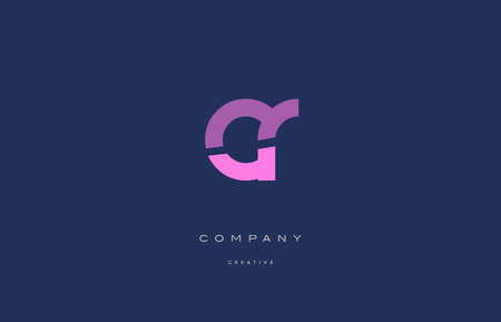 cr: cr c r  pink blue pastel modern abstract alphabet company logo design vector icon template