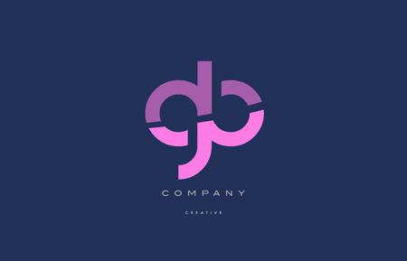 gb g b  pink blue pastel modern abstract alphabet company logo design vector icon template