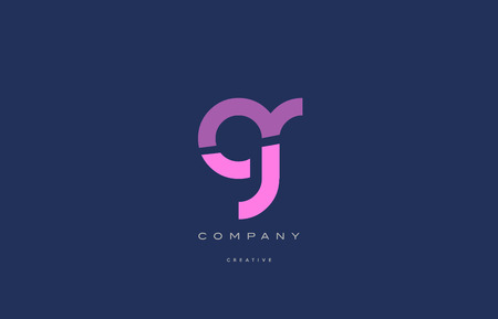 gr: gr g r  pink blue pastel modern abstract alphabet company logo design vector icon template