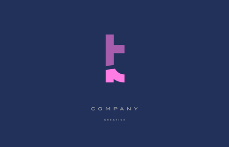 lt: Lt l t  pink blue pastel modern abstract alphabet company logo design vector icon template