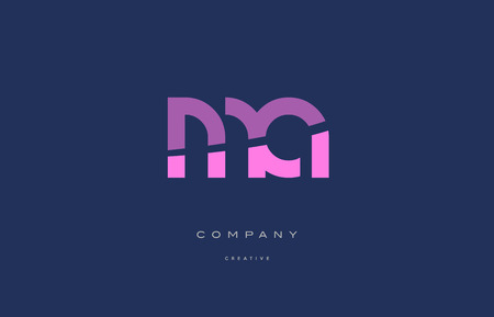Ma m a  pink blue pastel modern abstract alphabet company logo design vector icon template