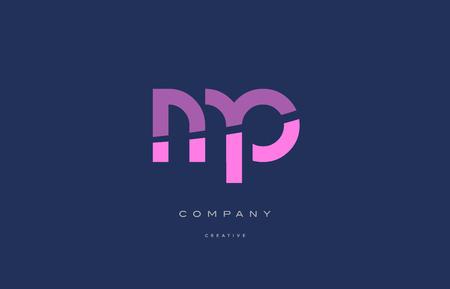 mp: Mp m p  pink blue pastel modern abstract alphabet company logo design vector icon template
