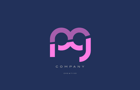 pg p g  pink blue pastel modern abstract alphabet company logo design vector icon template