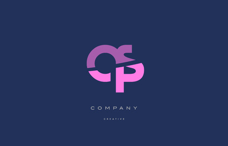 qs: Qs q s  pink blue pastel modern abstract alphabet company logo design vector icon template