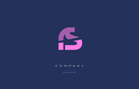 Rs r s pink blue pastel modern abstract alphabet company logo design vector icon template