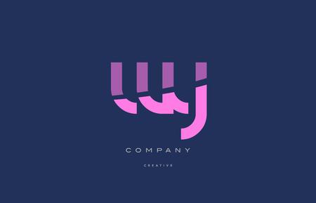 와이파이 블루 핑크 파스텔 현대 추상 알파벳 회사 로고 디자인 벡터 아이콘 템플릿 일러스트