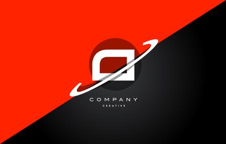 Ci c i  red black white technology swoosh alphabet company letter logo design vector icon template Illustration