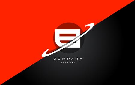 ei: ei e i  red black white technology swoosh alphabet company letter logo design vector icon template
