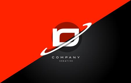 io: Io i o  red black white technology swoosh alphabet company letter logo design vector icon template Illustration